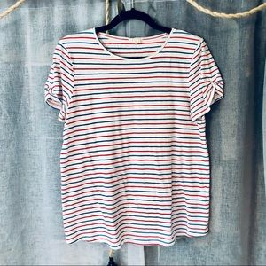 Esprit Red, White, and Blue Striped T-shirt